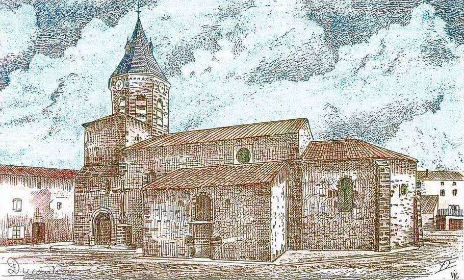 Dessin de l 39 eglise de siaugues - Eglise dessin ...